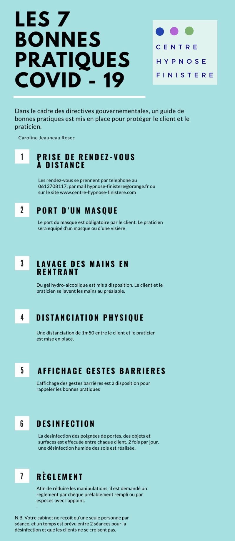 Les 7 bonnes pratiques COvid - 19